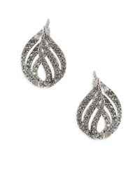 Adriana Orsini | Metallic Wisp Crystal Huggie Earrings | Lyst