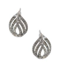 Adriana Orsini - Metallic Wisp Crystal Huggie Earrings - Lyst