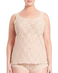 Hanky Panky Pink Plus Size Signature Lace Camisole