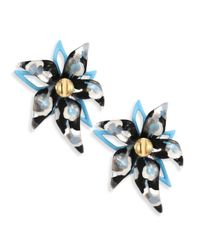 Alexis Bittar - Blue Lucite Abstract Poppy-print Flower Stud Earrings - Lyst
