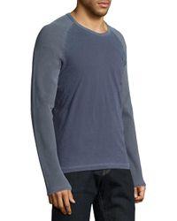 Splendid Mills | Blue Mix Media Long Sleeve Tee for Men | Lyst