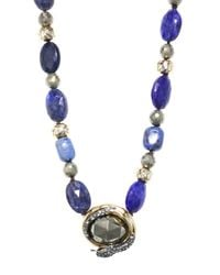 Alexis Bittar - Blue Elements Coiled Snake Beaded Pendant Necklace - Lyst