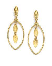 Gurhan | Metallic 24k Yellow Gold-layered Marquis Drop Earrings | Lyst