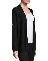 Eileen Fisher - Black Wool Twinkle Open Cardigan - Lyst