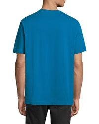 DIESEL - Blue Cereck Cotton Tee for Men - Lyst