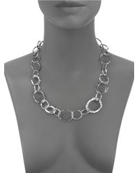 Ippolita - Metallic Glamazon Sterling Silver Bastile Element Short Link Chain Necklace - Lyst