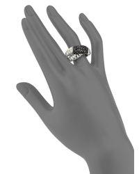 John Hardy - Blue Bedeg Black Sapphire & Sterling Silver Crossover Ring - Lyst
