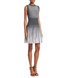 Theory - White Novelty Checker Dress - Lyst