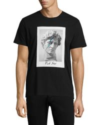 e1db241e048 Lyst - Tee Library Rock Star Print Cotton Tee in Black for Men