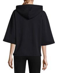 Opening Ceremony - Black Banded Short Sleeve Hoodie - Lyst