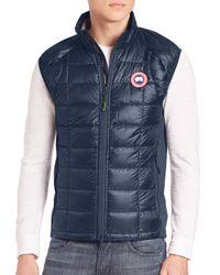 Canada Goose Blue Hybridge Lite Puffer Vest for men