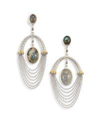 Coomi - Metallic Spring Labradorite, Diamond & Sterling Siler Drop Earrings - Lyst