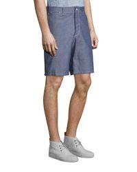 Rag & Bone - Blue Regular-fit Beach Cotton Shorts for Men - Lyst