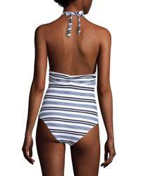Heidi Klein - Blue Marthas Vineyard One-piece Striped Swimsuit - Lyst