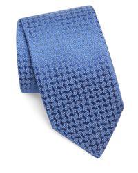 Charvet - Blue Textured Silk Tie for Men - Lyst