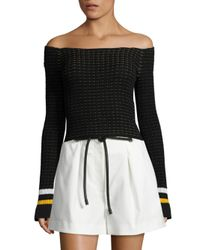 3.1 Phillip Lim - Black Off-the-shoulder Pullover - Lyst