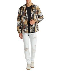 MSGM - Brown Spread Collar Printed Jacket for Men - Lyst