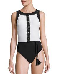 Shan Black Go West One-piece Swimsuit