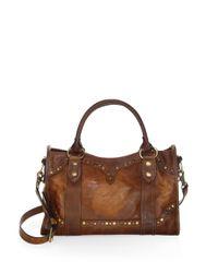 Frye - Brown Melissa Western Leather Satchel - Lyst