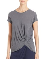 Stateside - Gray Twisted Knot Slub Tee - Lyst