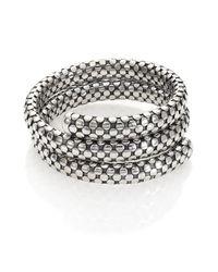John Hardy - Metallic Dot Sterling Silver Double-coil Bracelet - Lyst