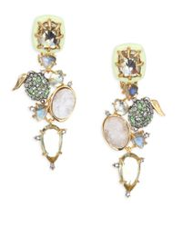 Alexis Bittar - Metallic Elements Crystal & Gemstone Cluster Clip-on Earrings - Lyst