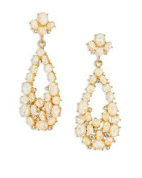 Kenneth Jay Lane - Metallic Opal Cluster Teardrop Earrings - Lyst