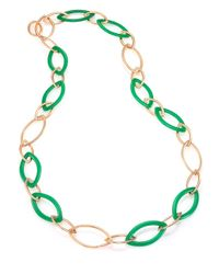 Vhernier | Green Pop Chrysoprase & 18k Rose Gold Marquis Chain Necklace | Lyst