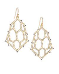Alexis Bittar - Metallic Elements Spiked Crystal Honeycomb Drop Earrings - Lyst