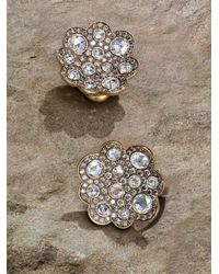 Roberto Coin - Metallic Diamond 18k Gold Button Earrings - Lyst