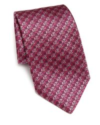 Ferragamo | Purple Gancini Circle Silk Tie for Men | Lyst