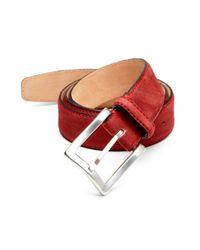 Hickey Freeman - Red Grain Nubuck Belt for Men - Lyst