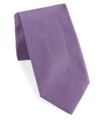 Breuer   Purple Textured Silk Tie for Men   Lyst