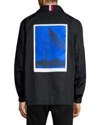 Tommy Hilfiger - Black Flag Print Coach Jacket for Men - Lyst