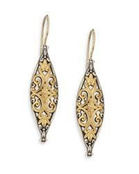 Konstantino - Metallic Hebe 18k Yellow Gold & Sterling Silver Drop Earrings - Lyst
