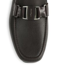 Ferragamo - Brown Sardegna Leather Loafers - Lyst