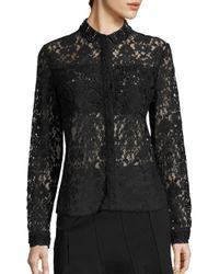 Elie Tahari - Black Avon All Over Lace Top - Lyst