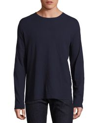 Zachary Prell - Blue Solid Long Sleeve Tee for Men - Lyst