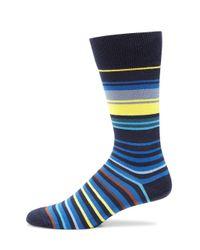 Paul Smith - Blue Woven Striped Socks for Men - Lyst