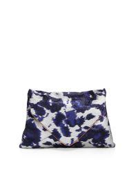 Dries Van Noten - Blue Abstract Print Envelope Clutch - Lyst