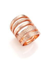 Pamela Love | Metallic Single Cage Rose Goldtone Ring | Lyst