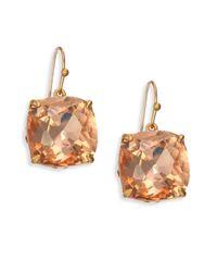 Tory Burch - Multicolor Tory-set Crystal Drop Earrings - Lyst