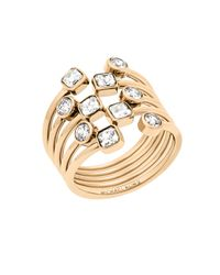 Michael Kors - Metallic Modern Brilliance Crystal Ring/goldtone - Lyst