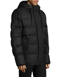 Andrew Marc - Black Groton Hooded Down Puffer Jacket for Men - Lyst