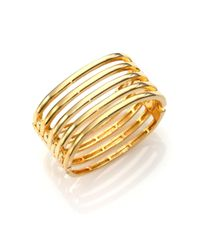 Kenneth Jay Lane - Metallic Caged Five-row Cuff Bracelet - Lyst
