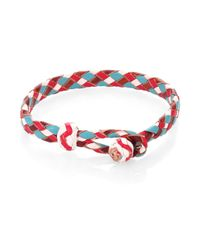 Chamula - Red Woven Leather Bracelet - Lyst