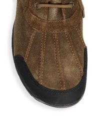 Ugg - Brown Butte Bomber Leather And Suede Waterproof Boots for Men - Lyst