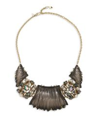 Alexis Bittar - Multicolor Lucite Stone Cluster Bib Necklace - Lyst
