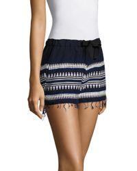 Lemlem - Blue Tabtab Fringed Shorts - Lyst