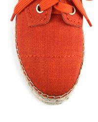 Alice + Olivia - Red Rory Raffia Platform Espadrille Sneakers - Lyst